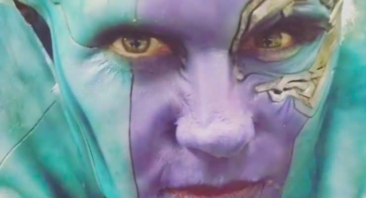Karen Gillan reveals new behind-the-scenes photo and video of her as Nebula from Avengers 4