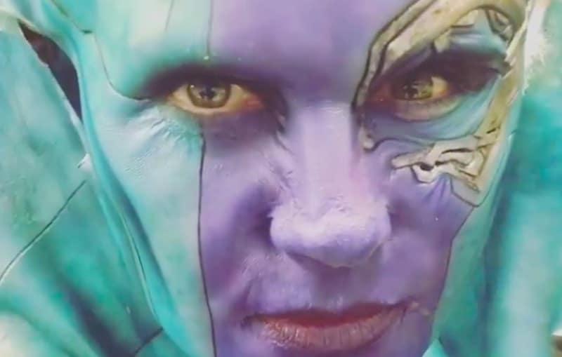 Karen Gillan in Nebula mask