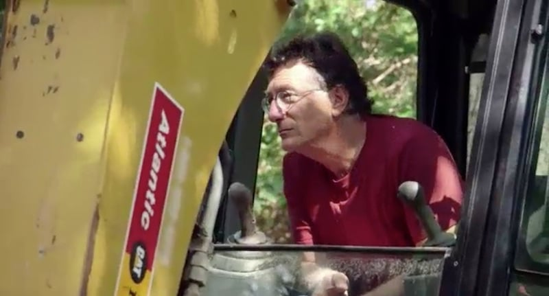 Marty in excavator