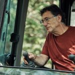 Marty Lagina in excavator on The Curse of Oak Island