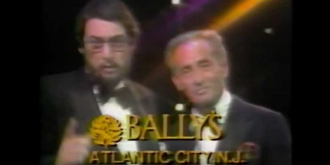 Roy Radin (L) appears in a commercial for his tour