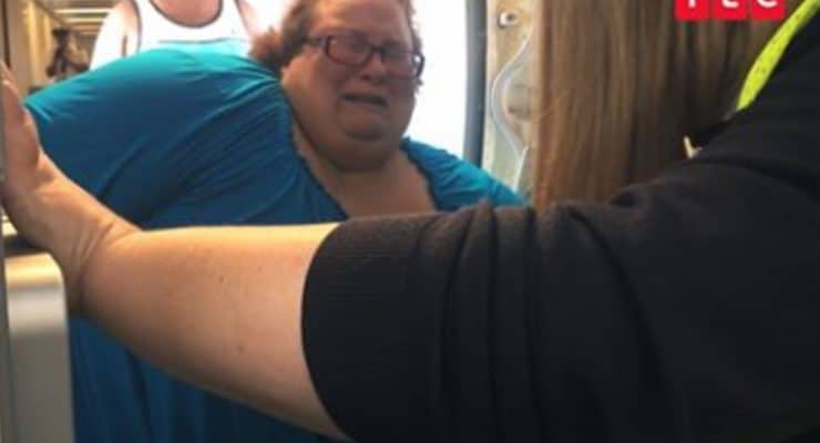 Distressing scenes as Janine struggles to fit on plane in My 600-lb Life