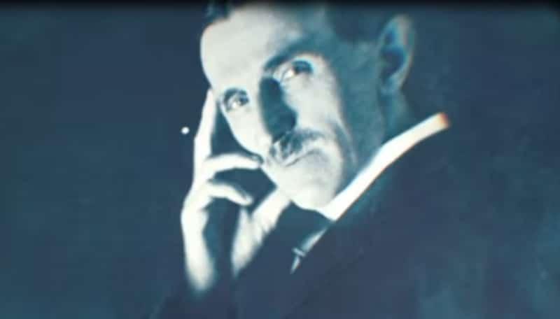 Nikola Tesla in a still from Tesla's Death Ray: A Murder Declassified