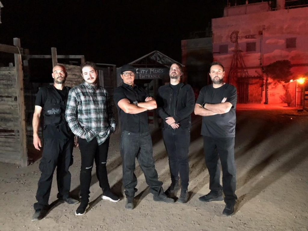Post Malone and the Ghost Adventures crew