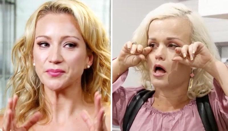 Terra Jole and Stephanie Ballard in tears on Little Women: Terra's Big House