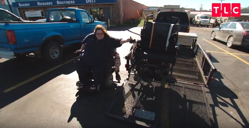 Rena and wheelchair