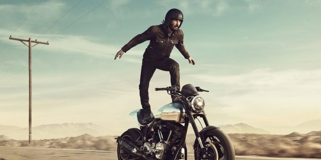 Keanu Reeves Super Bowl commercial 2018: Surfing a motorcycle for Squarespace