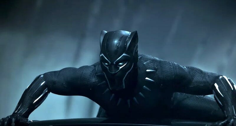 Black Panther in the 2018 2018 Lexus Super Bowl commercial