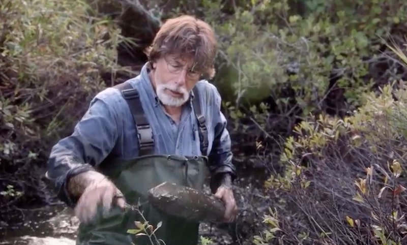 Rick Lagina in swamp