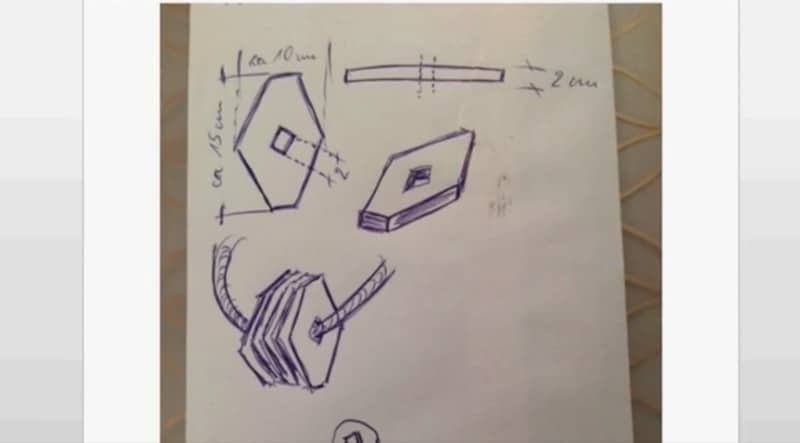 Drawings of rhomboids