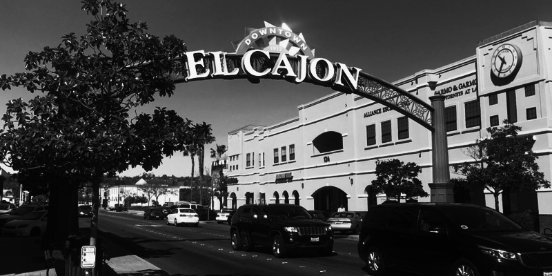 The Dead Files visits El Cajon, seen here in black and white