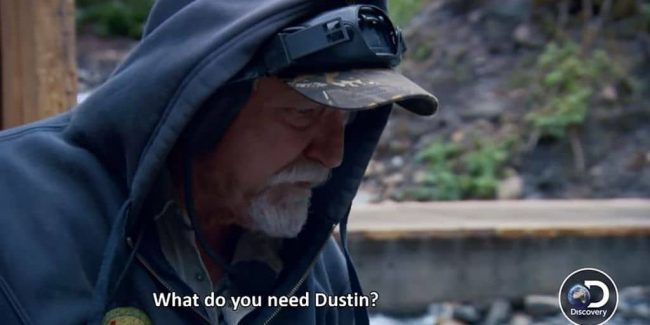 Gold Rush: White Water exclusive: Dustin battles boulders underwater while Dakota Fred looks on