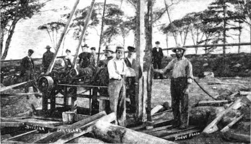 Workers on Oak Island in 1897