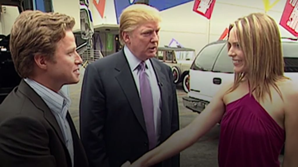 Billy Bush, Donald J Trump, Arianne Zucker