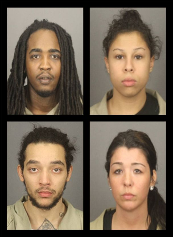 Clockwise from top left: Lydell Strickland, Samantha Hughes, Leah Gigliotti and Elliot Rivera