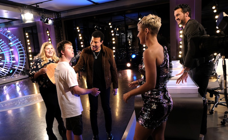 Maddie Zahm, Marcus, Lionel Richie, Katy Perry and Luke Bryan on American Idol