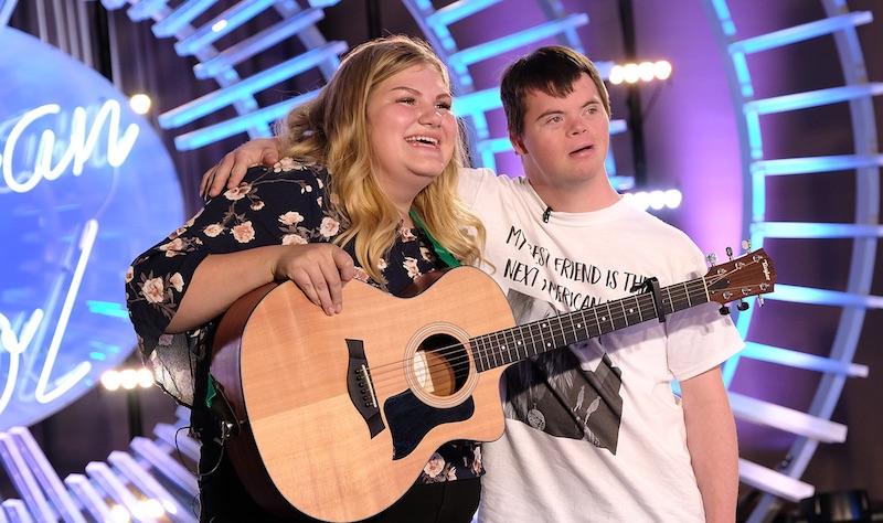 Maddie Zahm and Marcus on American Idol