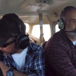 Kevin Dykstra flying a plane on The Curse of Civil War Gold