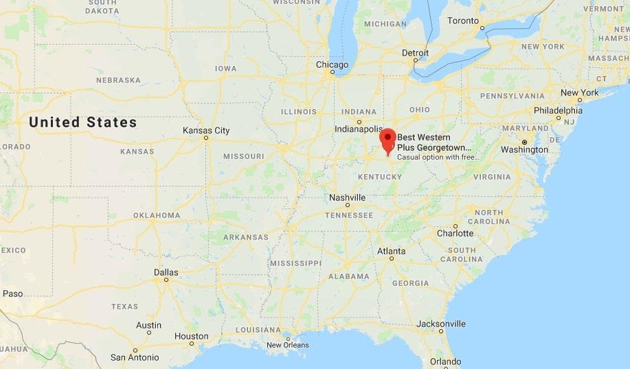 Diane Snellen was killed in Georgetown, Ken. - map