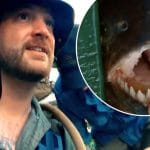 Rick Ness and a piranha on Gold Rush: Parker's Trail