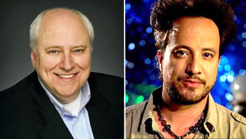 Producer Kevin Burns and star Giorgio Tsoukalos