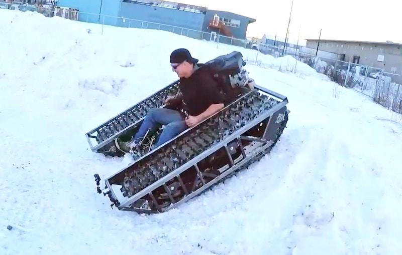 Todd testing the all-terrain wheelchair