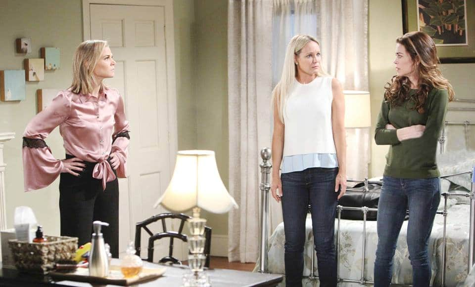 Sharon talks to Victoria on The Young and the Restless