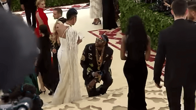 2 Chainz proposes to Kesha Ward at the 2018 Met Gala
