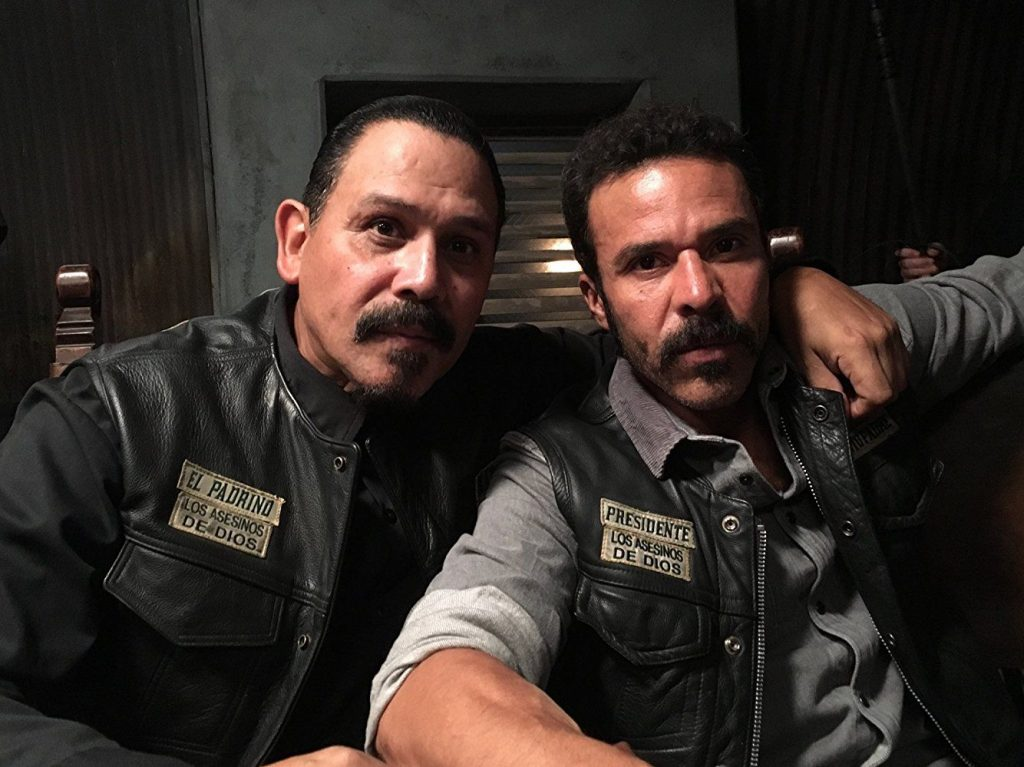 "Michael Irby plays Obispo ""Bishop"" Losa, president of Mayans MC's Santo Padre Charter"