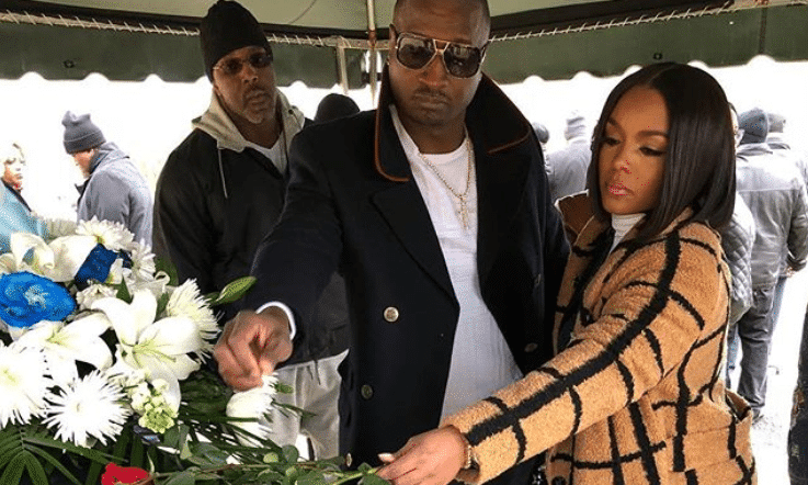 Rasheeda and Kirk Frost at his mother's funeral