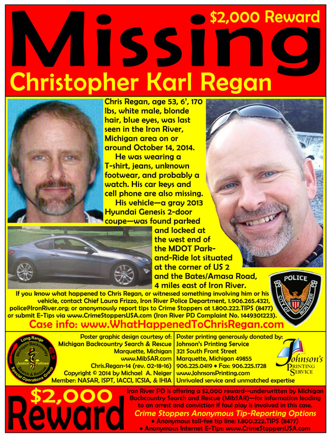 Christopher Regan missing poster