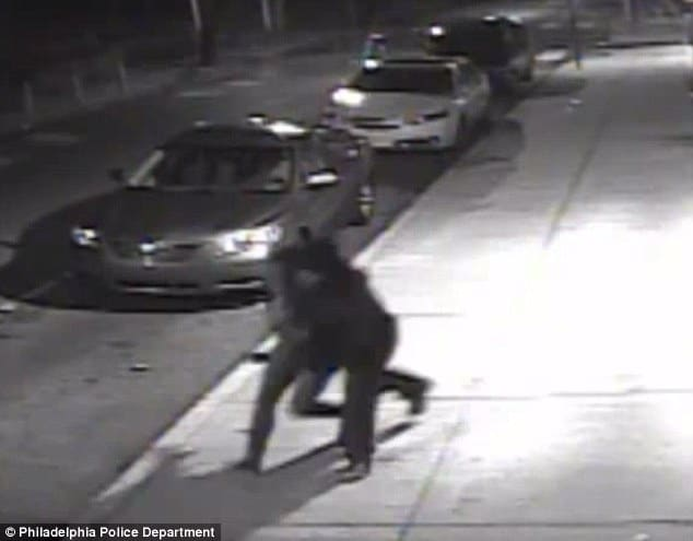 Moment of abduction on CCTV