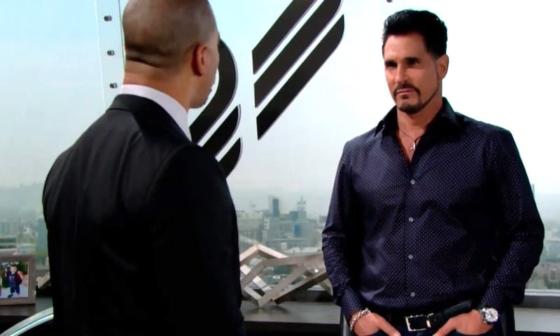 Justin talking to Bill on The Bold and the Beautiful