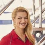 Kasey Cohen in her Below Deck Mediterranean promotional photo
