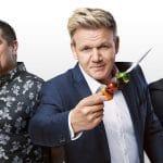 MasterChef Season 9 judges Aarón Sánchez, Gordon Ramsay and Joe Bastianich