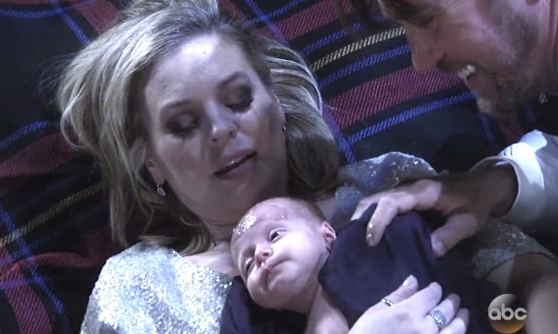 Maxie after giving birth on General Hospital