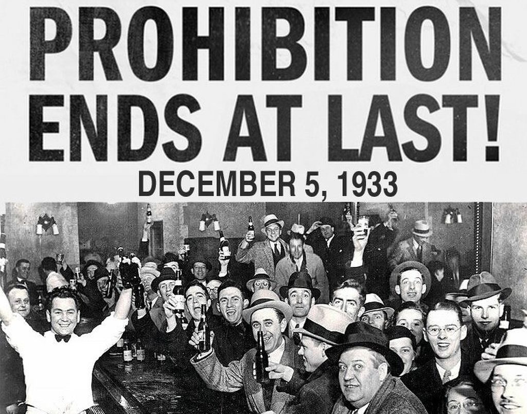 'Prohibition Ends At Last!' newspaper clipping