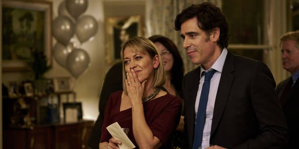 Nicola as Hannah Sterne and Stephen Mangan as Nathan in The Split