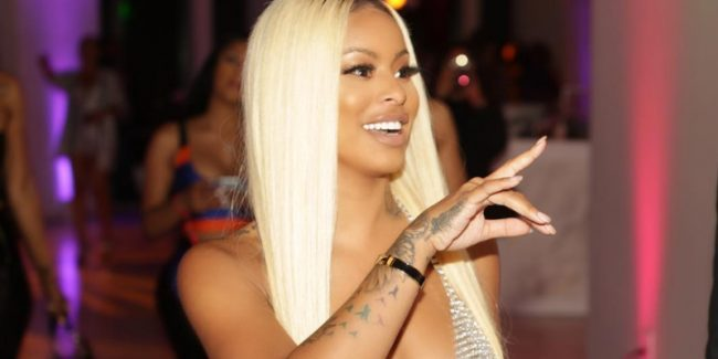 Alexis Skyy flashes her nipples in a sheer dress at the 2018 BET Awards