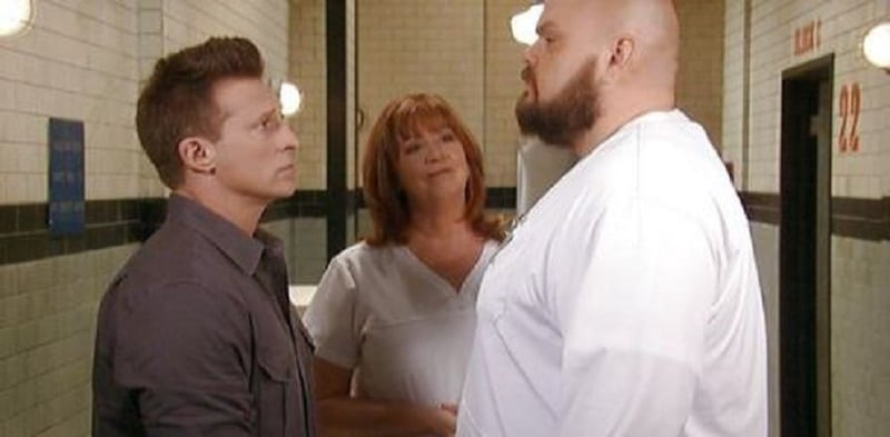 Jason, Mary Pat and orderly on General Hospital