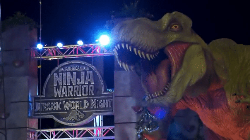 Chris Pratt and Bryce Dallas Howard featured as Jurassic World hits American Ninja Warrior