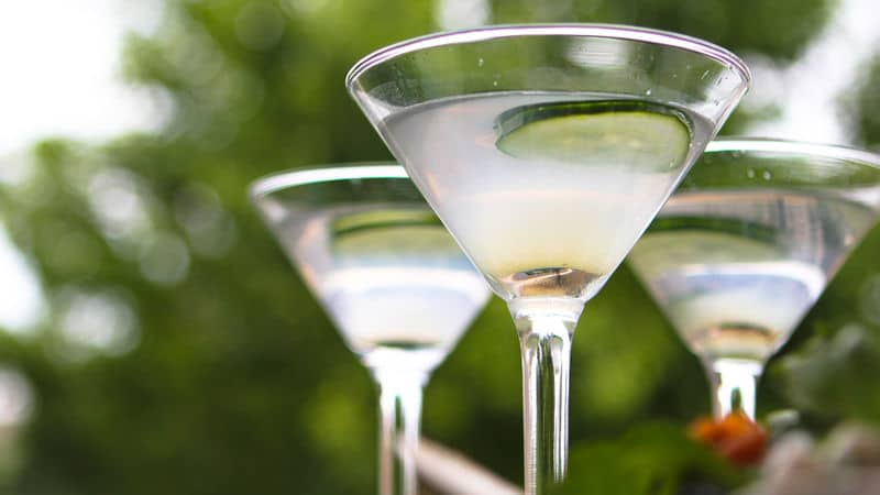 Cucumber and Lime martini
