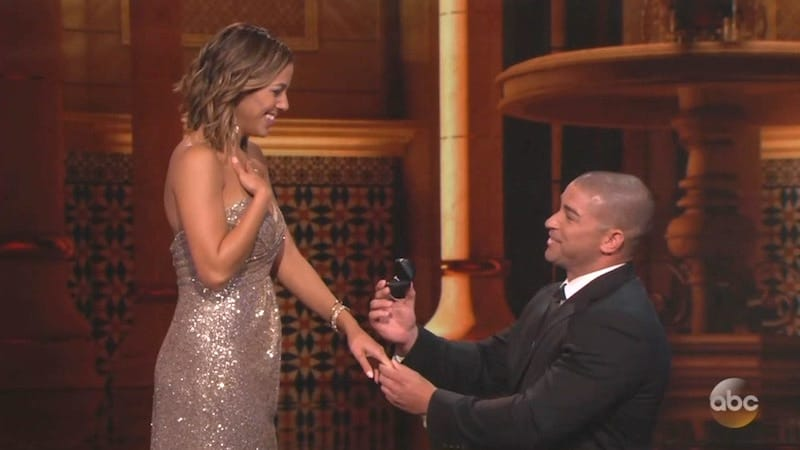 Mike proposes to Monica on The Proposal