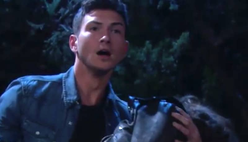 Ben carrying Ciara on Days of our Lives