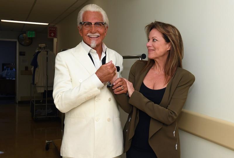 Nancy Lee Grahn and George Hamilton on General Hospital