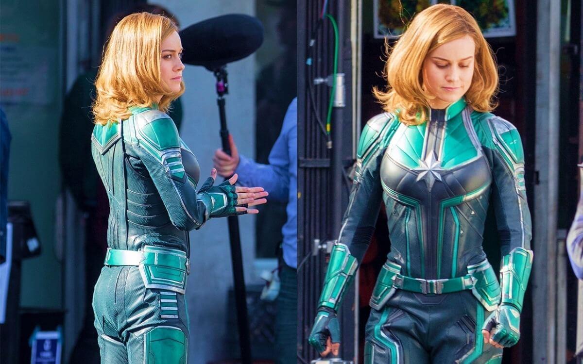 Brie Larson in Kree suit