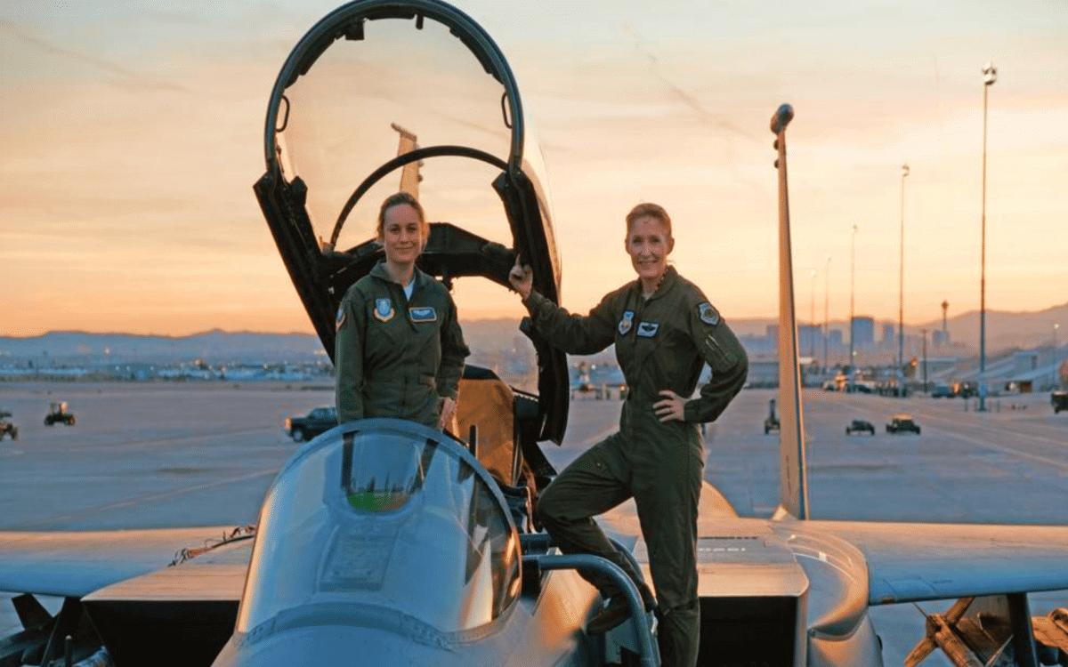 Brie Larson flight training