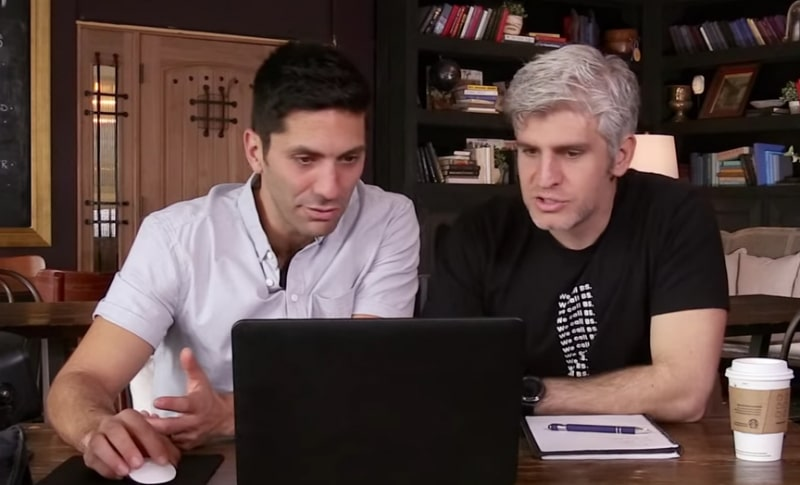 Nev Schulman and Max Joseph work to solve the mystery on Catfish: The TV Show