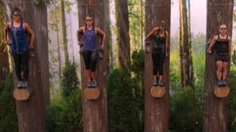 The Big Brother houseguests competing in the endurance competition