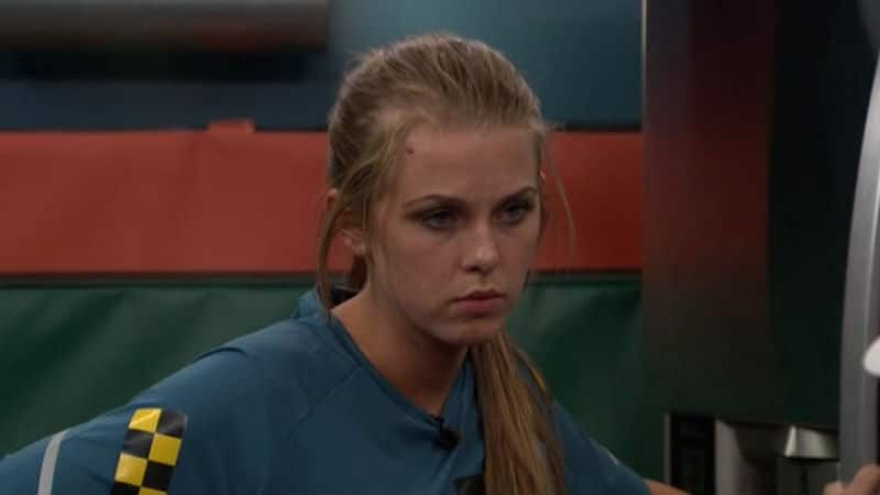 Haleigh alone in one of the Big Brother rooms